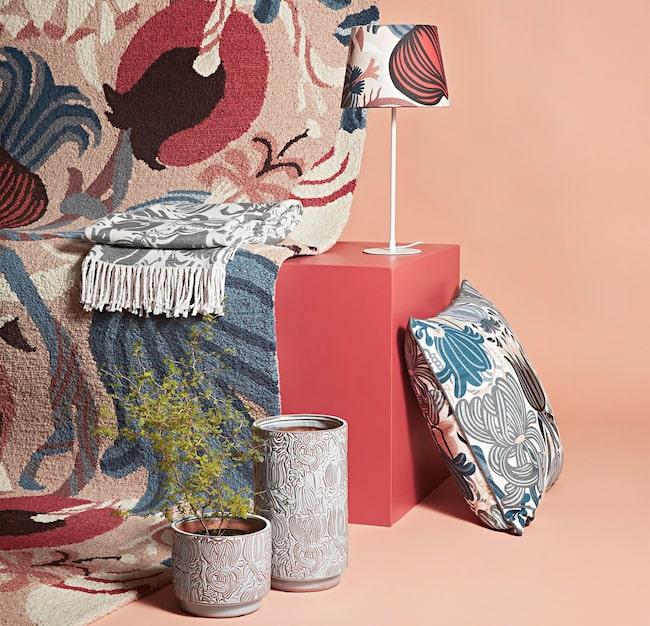 Åhléns släpper en inredningskollektion i samarbete med mönsterdesignern Petra Börner.