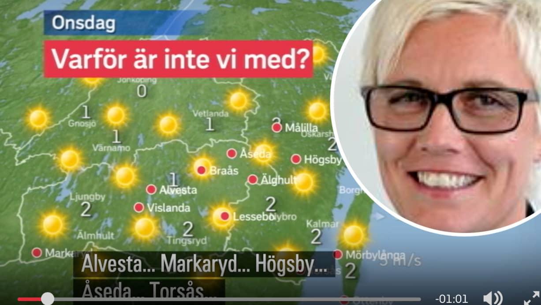 Karta Sverige Vimmerby.Vimmerby Kommun Tar Strid For Att Hamna Pa Svt S Karta