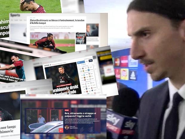 Rubriker världen över efter skadan på Zlatan