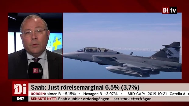 """Håkan Buskhe, vd Saab: """"Underliggande efterfrågan väldigt stark"""""""