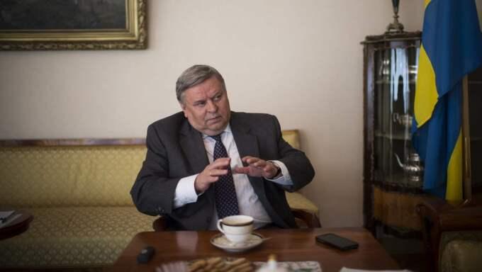 Rysslands ambassadör i Sverige Viktor Tatarintsev varnar Sverige att gå med i Nato. Foto: Roger Turesson / Dn / Tt