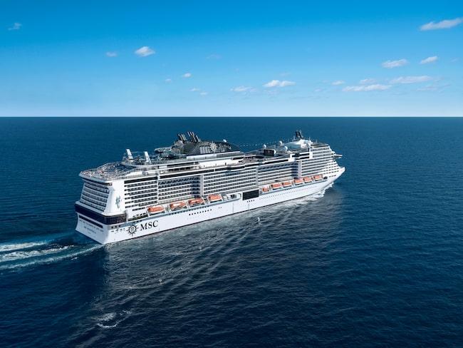Kryssningsfartyget MSC Meraviglia är världens femte största fartyg.
