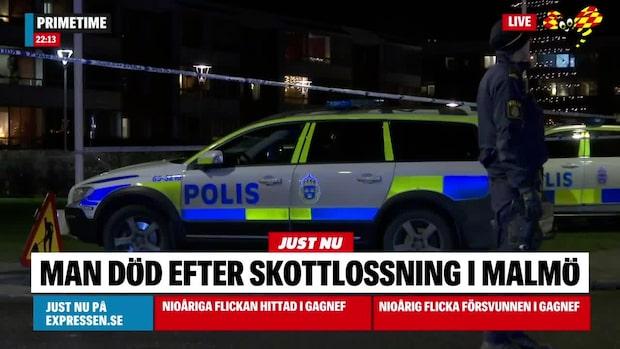 Man död efter skjutning i Malmö