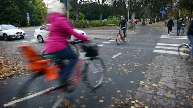 Hala löv orsakar många cykelolyckor under höstmånaderna.