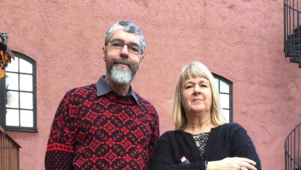 Pablo Wiking-Faria och Christina Andersson-Wiking, förste antikvarier vid Hallands kulturhistoriska museum.