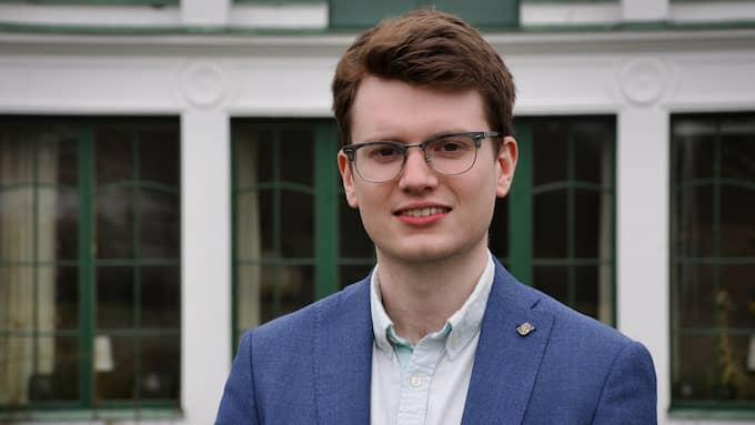 Simon Palme (C), förbundsordförande för Centerstudenter. Foto: PRESSBILD