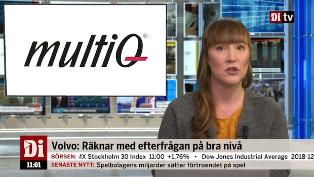 Di Nyheter 11.00 7 dec - Stororder för MultiQ
