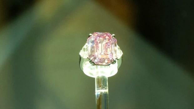 Rekorddiamanten 'Pink Legacy' såld för 450 miljoner kronor