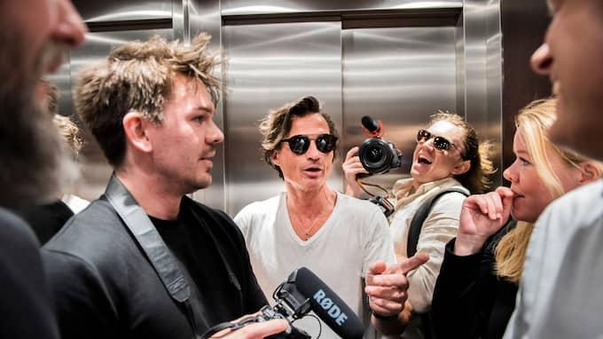 Petter Stordalen i hissen på hotellet. Foto: NORA LOREK