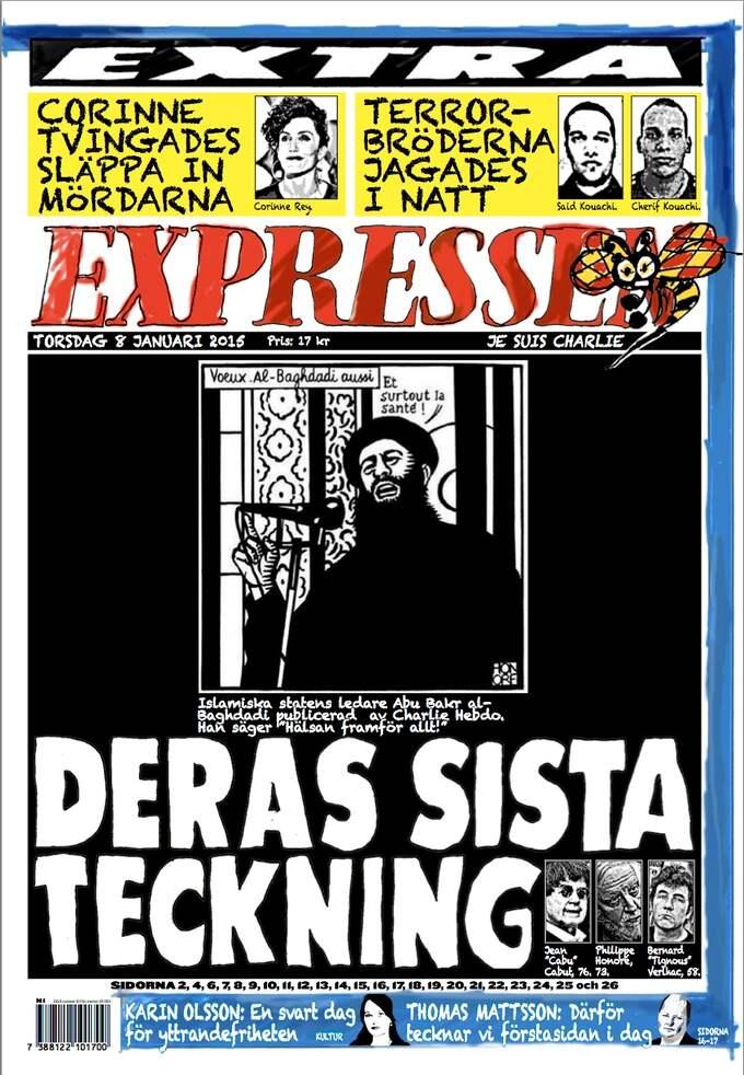 Expressens förstasida.