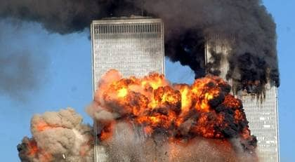 Terror-attacken mot World Trade Center i Nerw York 11 september 2001. Foto: GETTY IMAGES