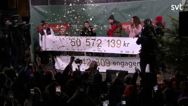 """Musikhjälpen har samlat in 50 572 139 kronor: """"Man får hopp om människan"""""""