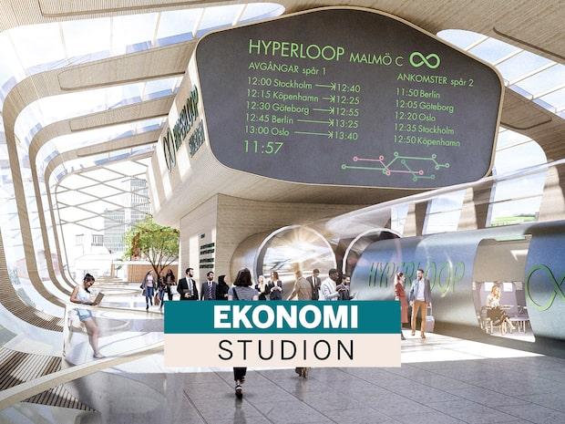 45 minuter Stockholm-Malmö – ska vi satsa på hyperloop i stället för snabbtåg?