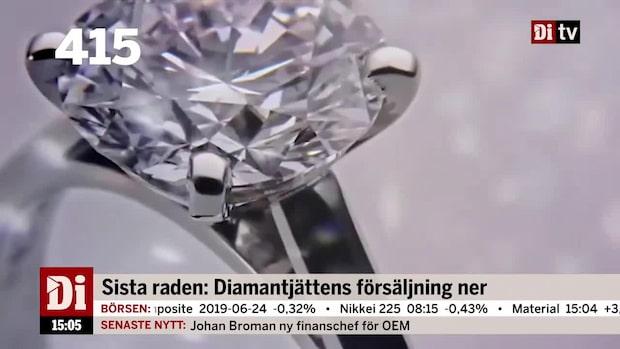 Dagens siffra: Diamantjättens försäljning ner