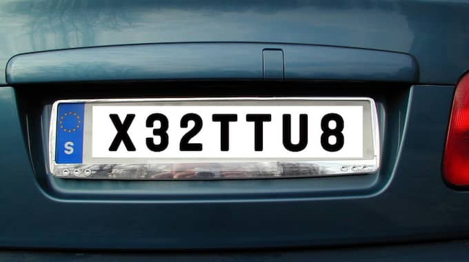 Transportstyrelsen tyckte att X32TTU8 var stötande. OBS. Bilden är ett montage. Foto: Montage