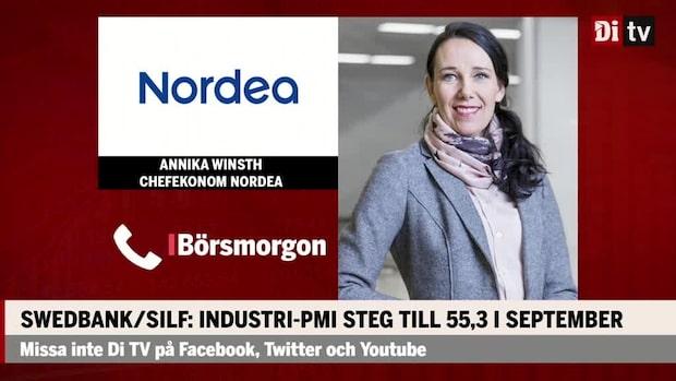 Swedbank/Silf: Industri-PMI steg till 55,3 i september