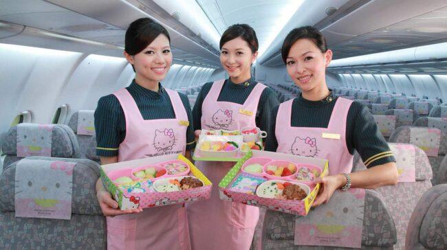 Maten, ja den är så klart Hello Kitty-formad.