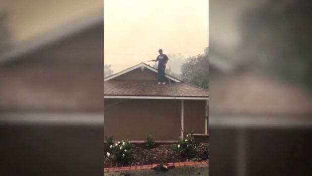 Han räddade grannarnas hus från skogsbranden