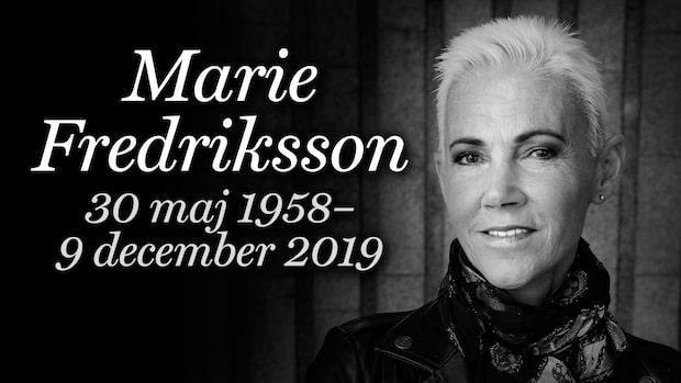 Marie Fredriksson har avlidit – här är höjdpunkter från hennes karriär