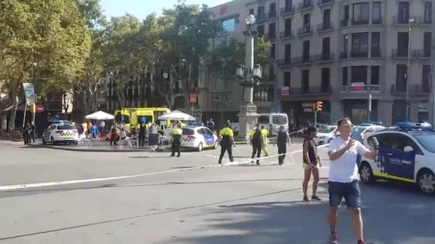 Minst 13 personer döda efter terrorattack i Barcelona