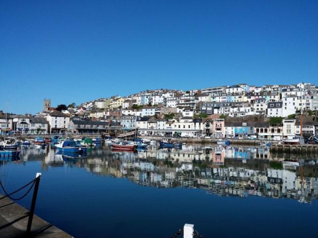 """Den före detta fiskebyn Brixham i Devon ligger på den """"engelska rivieran"""""""
