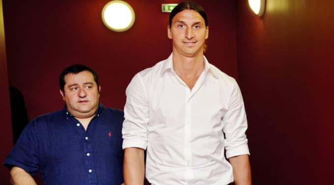Mino Raiola och Zlatan Ibrahimovic. Foto: Jens L'Estrade