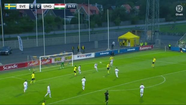 Sverige vann mot Ungern - efter drömmål