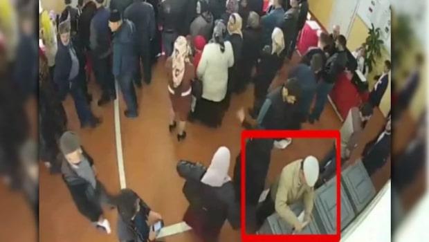 Video visar misstänkt valfusk i Ryssland