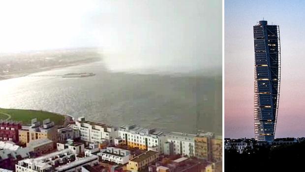 Här drar ovädret in över Malmö – fångas på film