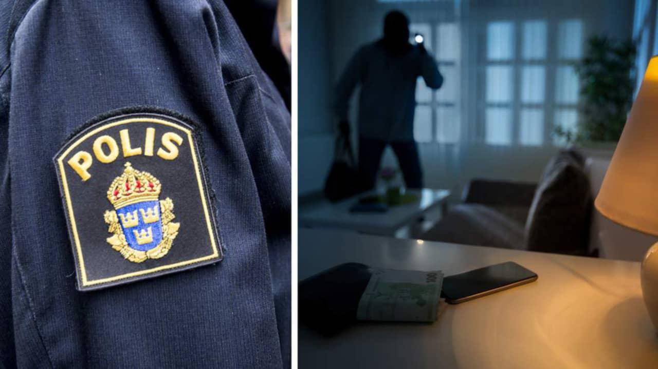 Polis fann eget id kort hos tjuv