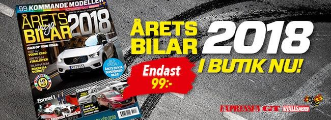 Tidningen Årets nya bilar – med 99 kommande modeller – säljs i butik 13-26 februari.