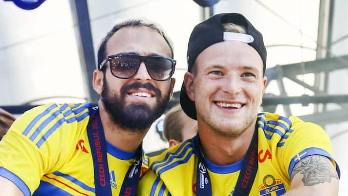 Guidetti och Abbe Khalili. Foto: Gustav Mårtensson