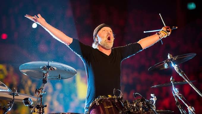 Metallicas trummis Lars Ullrich. Foto: NILS MEILVANG / EPA / TT / EPA TT NYHETSBYRÅN
