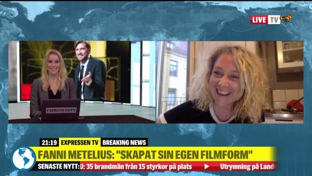 Fanni Metelius reagerar på Ruben Östlunds vinst