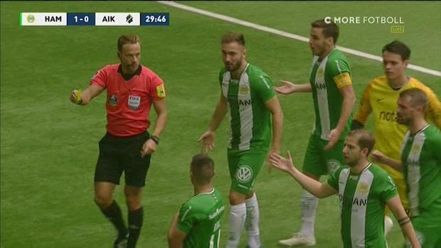 Rodic sätter 1-0 - får gult kort för hets mot AIK-klacken