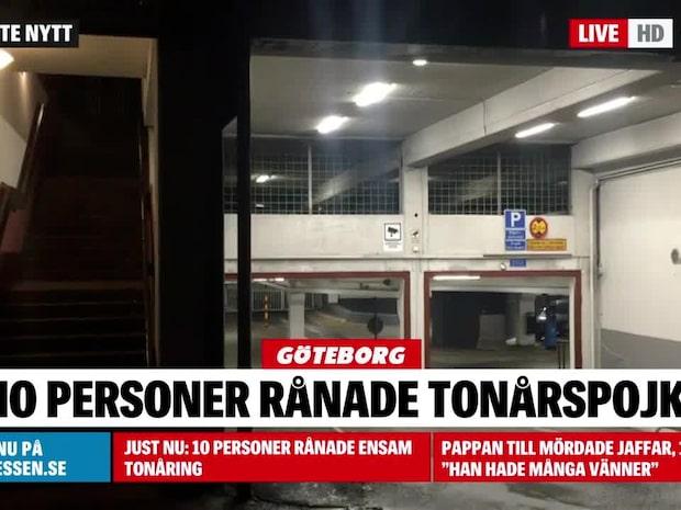 Tio personer rånade en ensam tonåring