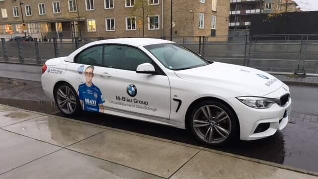 """Olivia Schougs bil parkerades utanför Malmö IP när Rosengård skulle spela. """"Hon är inte aktuell"""", dementerar FCR-basen Håkan Wifvesson. Foto: JAN PETER ANDERSSON"""