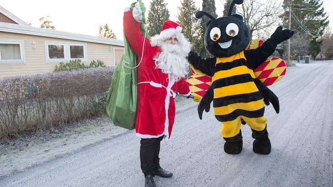 Getingen firar jul. Foto: Expressen
