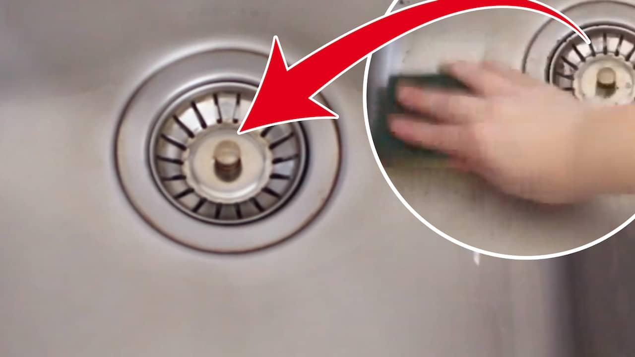 rostfri diskbänk rengöring
