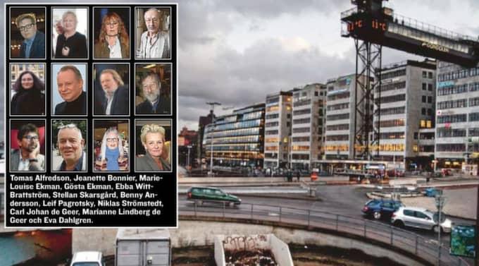"""Ett 50-tal kulturprofiler skriver i dag på Sidan 4 och protesterar mot planerna på """"Nya Slussen"""". Foto: VERONIKA LJUNG"""