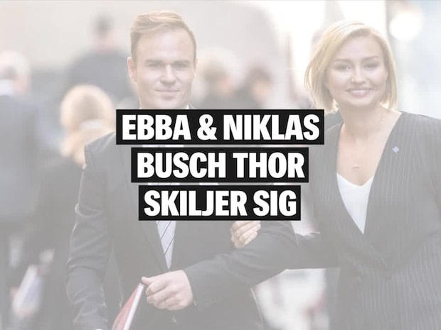 """Ebba Busch Thor skiljer sig från maken: """"Sorg"""""""