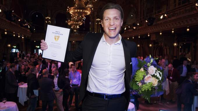 Expressens Alexander Lydecker vinner Årets Intraprenör. Foto: Olle Sporrong