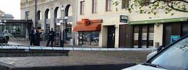 Misstänkt skottlossning  mot kafé under natten