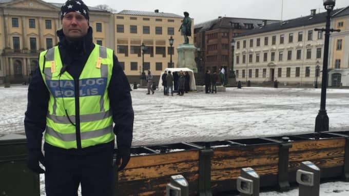 """""""Vi visste inte vilka som egentligen låg bakom"""" säger Fredrik Dahlgren, chef för dialogpolisen i Göteborg. Foto: Jens Andersson"""