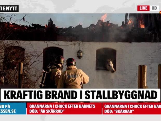 Storbrand i stall i Vollsjö