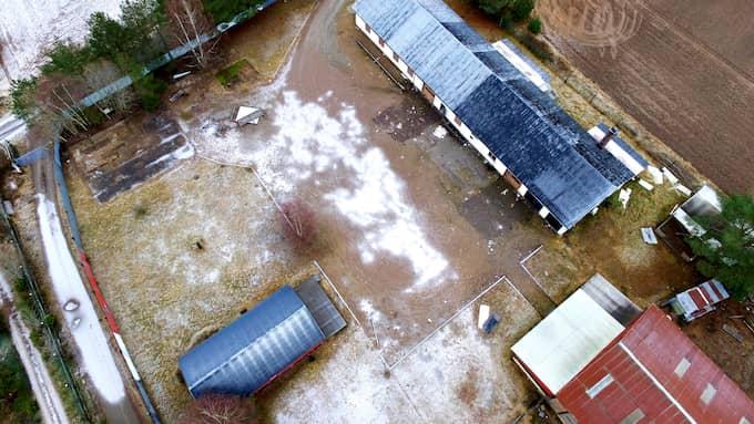 Hells Angels-gården sett uppifrån. Foto: David Hårseth/Dagsmedia