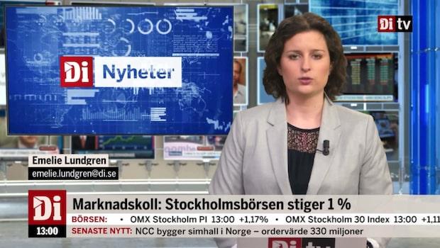 Di Nyheter 13:00 – ABB-aktien rusar