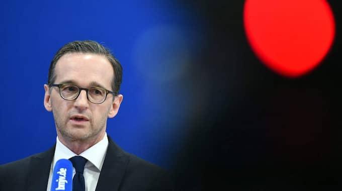 Tysklands jusitieminister Heiko Maas. Foto: Britta Pedersen / Epa / Tt