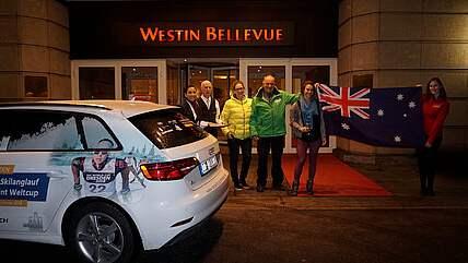 Jessica Yeaton blev överraskad. Foto: Skiworldcup-Dresden