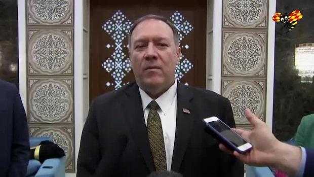 """Mike Pompeo: """"Vi vet att det var Iran som ledde attacken"""""""